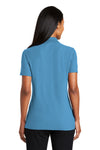 Port Authority L510 Womens Moisture Wicking Short Sleeve Polo Shirt Celadon Blue Back