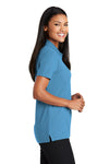 Port Authority L510 Womens Moisture Wicking Short Sleeve Polo Shirt Celadon Blue Side