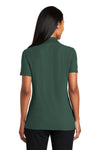 Port Authority L510 Womens Moisture Wicking Short Sleeve Polo Shirt Dark Green Back