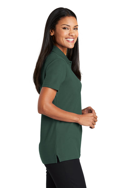 Port Authority L510 Womens Moisture Wicking Short Sleeve Polo Shirt Dark Green Side