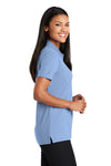 Port Authority L510 Womens Moisture Wicking Short Sleeve Polo Shirt Light Blue Side
