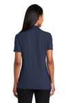 Port Authority L510 Womens Moisture Wicking Short Sleeve Polo Shirt Navy Blue Back
