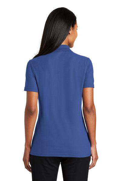 Port Authority L510 Womens Moisture Wicking Short Sleeve Polo Shirt Royal Blue Back
