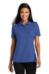Port Authority L510 Womens Moisture Wicking Short Sleeve Polo Shirt Royal Blue Front