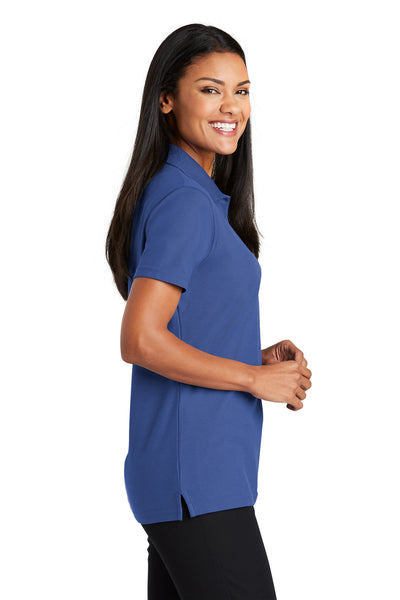 Port Authority L510 Womens Moisture Wicking Short Sleeve Polo Shirt Royal Blue Side