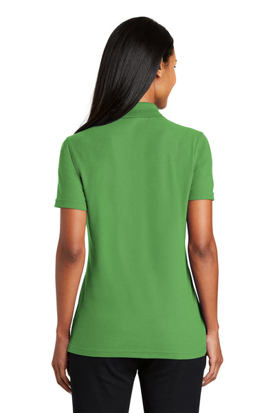 Port Authority L510 Womens Moisture Wicking Short Sleeve Polo Shirt Vine Green Back