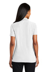 Port Authority L510 Womens Moisture Wicking Short Sleeve Polo Shirt White Back
