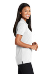 Port Authority L510 Womens Moisture Wicking Short Sleeve Polo Shirt White Side