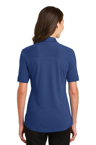 Port Authority L5200 Womens Silk Touch Performance Moisture Wicking Short Sleeve Polo Shirt Royal Blue Back