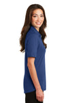 Port Authority L5200 Womens Silk Touch Performance Moisture Wicking Short Sleeve Polo Shirt Royal Blue Side