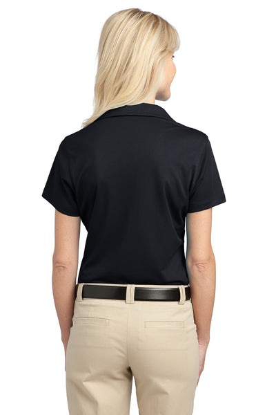 Port Authority L527 Womens Tech Moisture Wicking Short Sleeve Polo Shirt Black Back