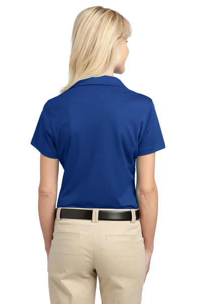 Port Authority L527 Womens Tech Moisture Wicking Short Sleeve Polo Shirt Royal Blue Back