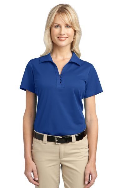 Port Authority L527 Womens Tech Moisture Wicking Short Sleeve Polo Shirt Royal Blue Front