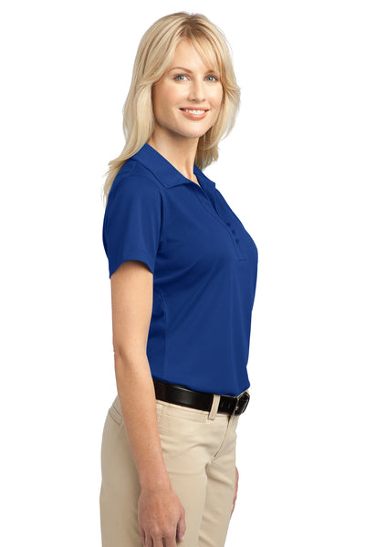Port Authority L527 Womens Tech Moisture Wicking Short Sleeve Polo Shirt Royal Blue Side