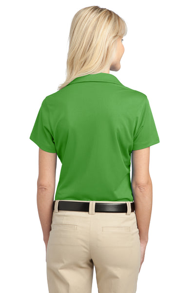Port Authority L527 Womens Tech Moisture Wicking Short Sleeve Polo Shirt Cactus Green Back