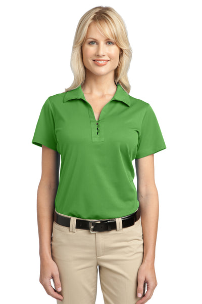 Port Authority L527 Womens Tech Moisture Wicking Short Sleeve Polo Shirt Cactus Green Front