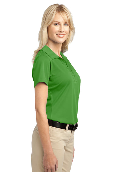 Port Authority L527 Womens Tech Moisture Wicking Short Sleeve Polo Shirt Cactus Green Side