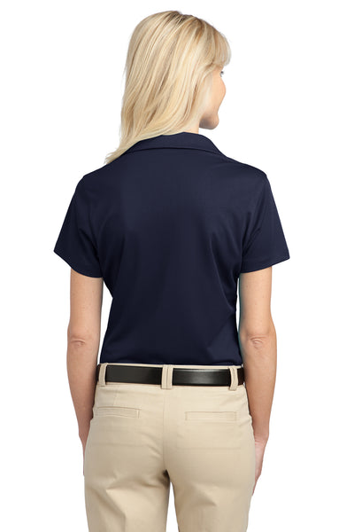 Port Authority L527 Womens Tech Moisture Wicking Short Sleeve Polo Shirt Navy Blue Back