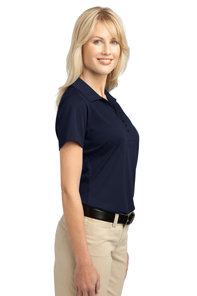 Port Authority L527 Womens Tech Moisture Wicking Short Sleeve Polo Shirt Navy Blue Side