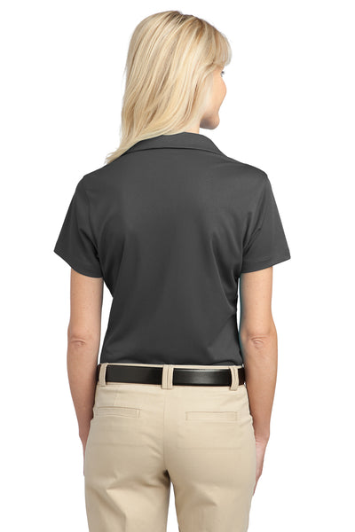 Port Authority L527 Womens Tech Moisture Wicking Short Sleeve Polo Shirt Smoke Grey Back