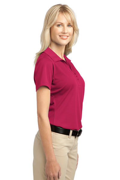 Port Authority L527 Womens Tech Moisture Wicking Short Sleeve Polo Shirt Raspberry Pink Side