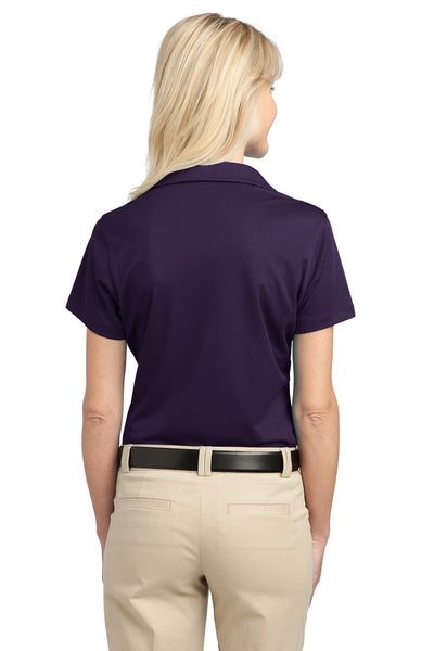 Port Authority L527 Womens Tech Moisture Wicking Short Sleeve Polo Shirt Purple Back