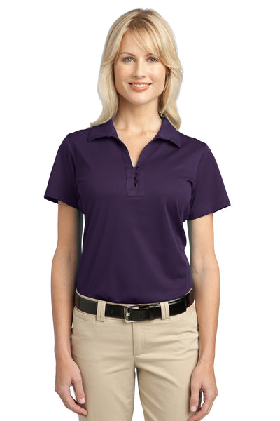 Port Authority L527 Womens Tech Moisture Wicking Short Sleeve Polo Shirt Purple Front