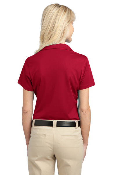 Port Authority L527 Womens Tech Moisture Wicking Short Sleeve Polo Shirt Red Back