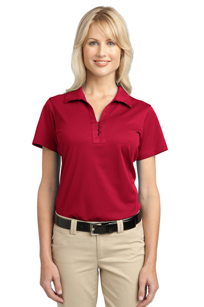 Port Authority L527 Womens Tech Moisture Wicking Short Sleeve Polo Shirt Red Front