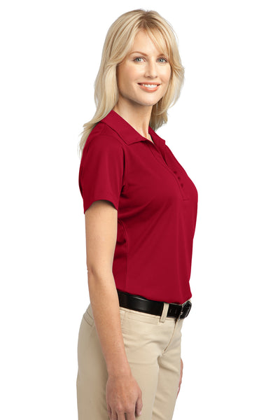 Port Authority L527 Womens Tech Moisture Wicking Short Sleeve Polo Shirt Red Side