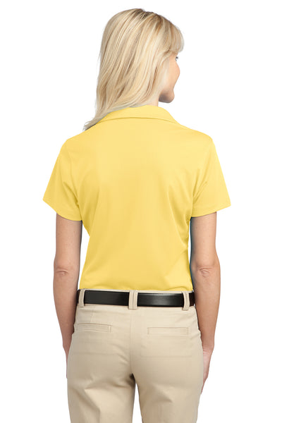 Port Authority L527 Womens Tech Moisture Wicking Short Sleeve Polo Shirt Yellow Back
