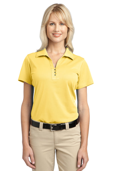 Port Authority L527 Womens Tech Moisture Wicking Short Sleeve Polo Shirt Yellow Front