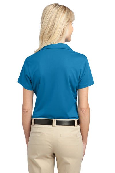 Port Authority L527 Womens Tech Moisture Wicking Short Sleeve Polo Shirt Vivid Blue Back