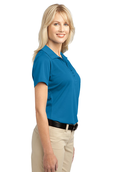 Port Authority L527 Womens Tech Moisture Wicking Short Sleeve Polo Shirt Vivid Blue Side