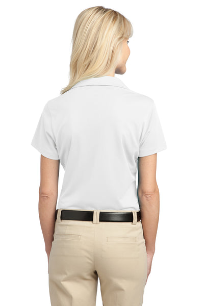 Port Authority L527 Womens Tech Moisture Wicking Short Sleeve Polo Shirt White Back