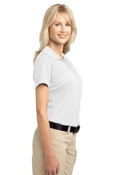 Port Authority L527 Womens Tech Moisture Wicking Short Sleeve Polo Shirt White Side