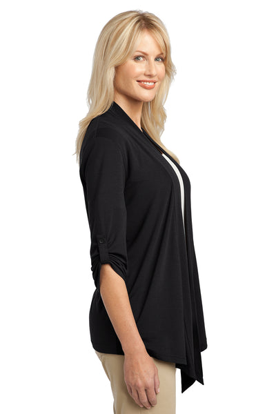 Port Authority L543 Womens Concept Shrug Black Side