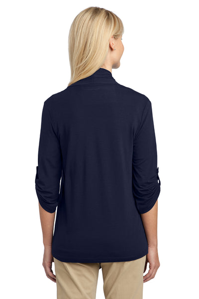 Port Authority L543 Womens Concept Shrug Navy Blue Back