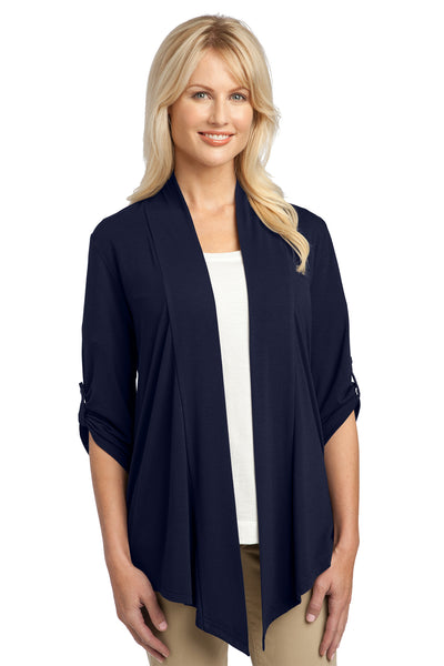 Port Authority L543 Womens Concept Shrug Navy Blue Front