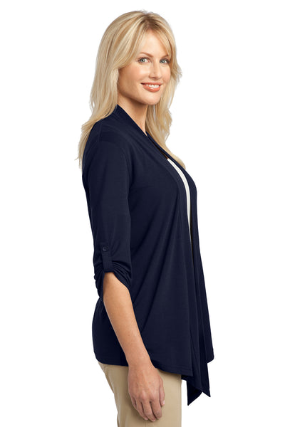 Port Authority L543 Womens Concept Shrug Navy Blue Side