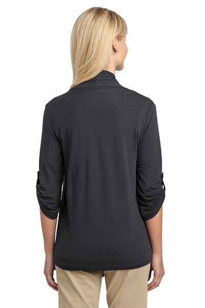 Port Authority L543 Womens Concept Shrug Smoke Grey Back