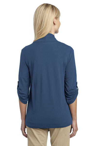 Port Authority L543 Womens Concept Shrug Moonlight Blue Back