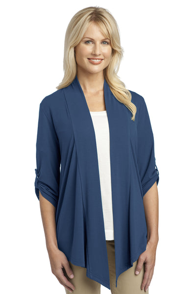 Port Authority L543 Womens Concept Shrug Moonlight Blue Front