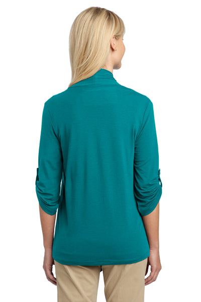 Port Authority L543 Womens Concept Shrug Teal Green Back