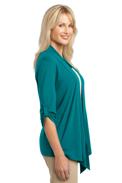 Port Authority L543 Womens Concept Shrug Teal Green Side