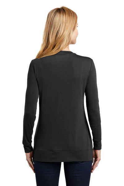 Port Authority L545 Womens Concept Long Sleeve Cardigan Sweater Black Back