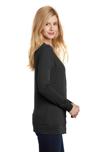 Port Authority L545 Womens Concept Long Sleeve Cardigan Sweater Black Side