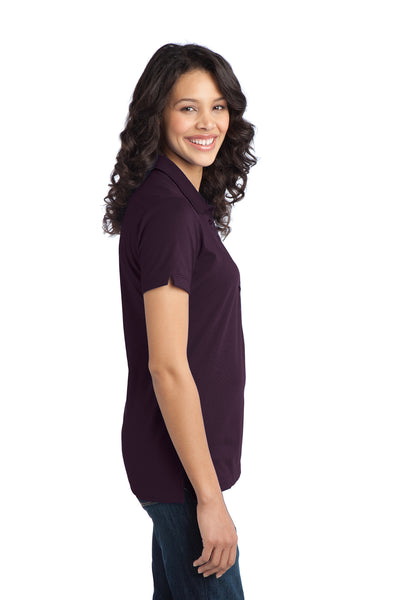 Port Authority L555 Womens Moisture Wicking Short Sleeve Polo Shirt Purple Side