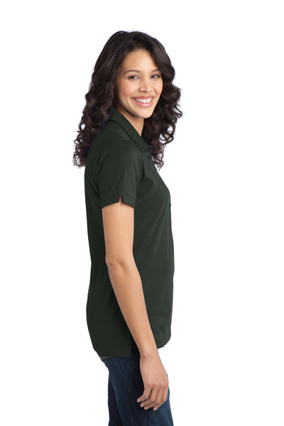 Port Authority L555 Womens Moisture Wicking Short Sleeve Polo Shirt Smoke Grey Side