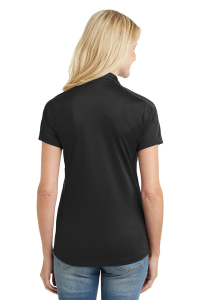 Port Authority L569 Womens Moisture Wicking Short Sleeve Polo Shirt Black Back